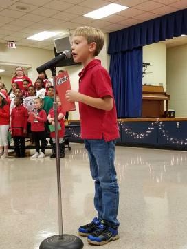 Alex at 2nd grade musical